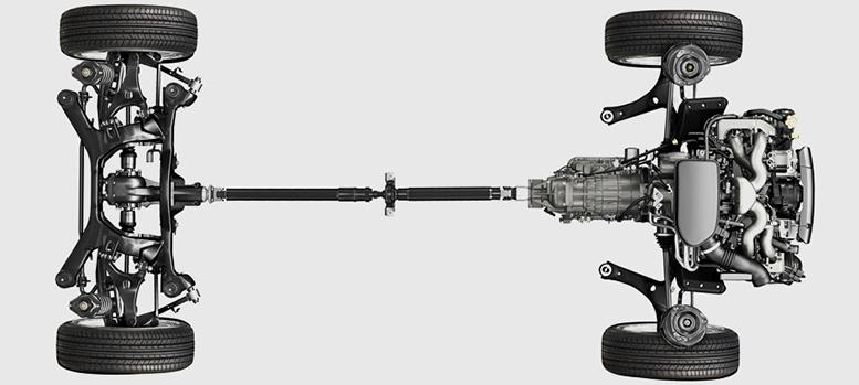 Схема подвесок со стойками McPherson и задней многорычажкой не изменилась.  Колёсная база увеличилась на 20 мм...